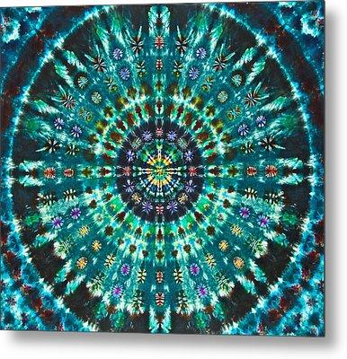 Peacock Throne Mandala Metal Print by Courtenay Pollock