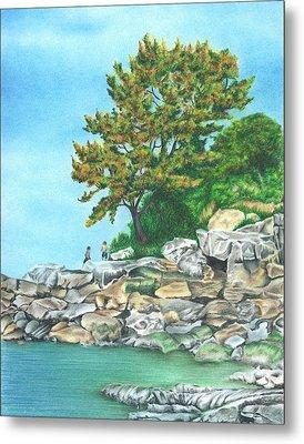 Peaks Island Metal Print by Troy Levesque