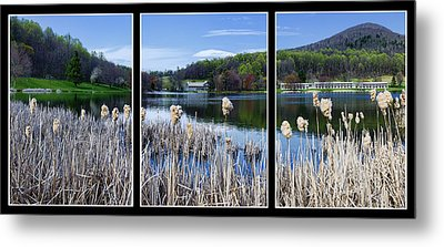 Peaks Of Otter Lodge Triptych Metal Print