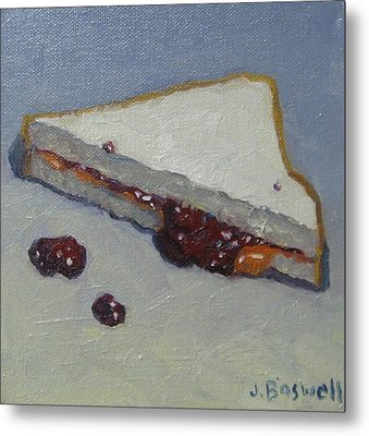 Peanut Butter And Jelly Sandwich Metal Print by Jennifer Boswell