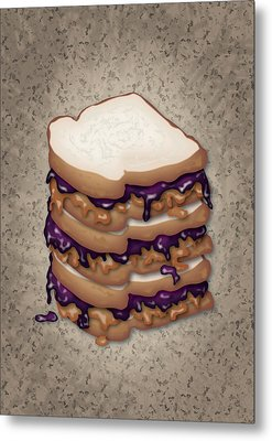 Peanut Butter And Jelly Sandwich Metal Print by Ym Chin