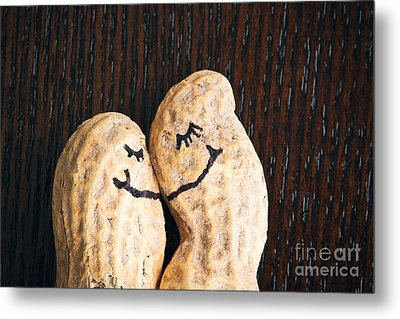 Peanuts In Love Metal Print by Sharon Dominick
