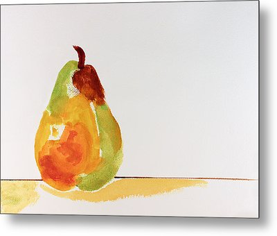 Pear In Autumn Metal Print