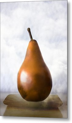 Pear In The Clouds Metal Print by Carol Leigh