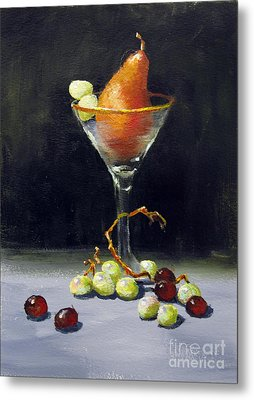 Pear Martini Metal Print