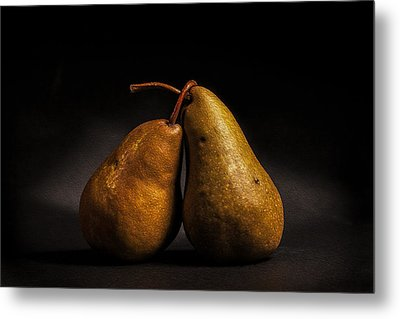 Pear Of Lovers Metal Print by Peter Tellone