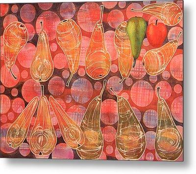 Pear Sphere Metal Print by Adel Nemeth