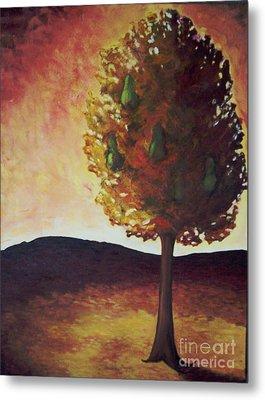 Pear Tree Metal Print by Samantha Black