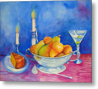 Pearis By Candlelight  Metal Print