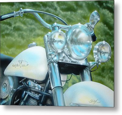 Pearl And Chrome Metal Print by Chris Fraser