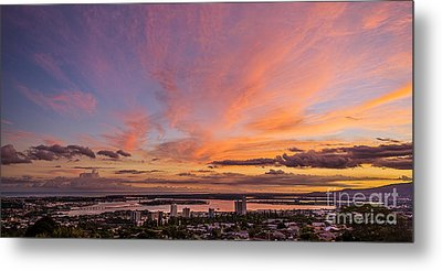Metal Print featuring the photograph Pearl Harbor At Sunset by Aloha Art