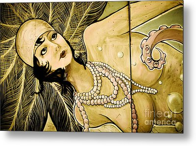 Pearl Mermaid  Metal Print by Colleen Kammerer