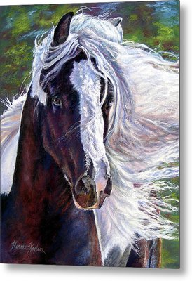 Pearlie King Gypsy Vanner Stallion Metal Print
