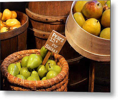 Pears - 15 Cents Per Basket Metal Print