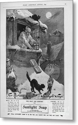 Pears  1899 1890s Uk Cc Sunlight Winter Metal Print by The Advertising Archives