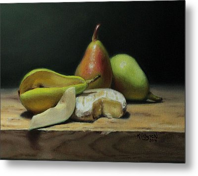 Pears And Cheese Metal Print by Brianne Kirbyson