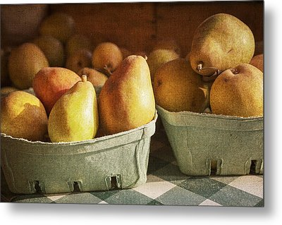 Pears Metal Print by Caitlyn  Grasso