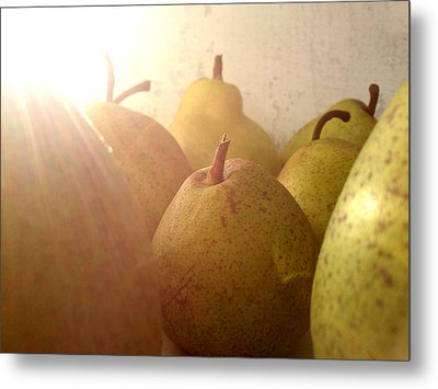 Metal Print featuring the photograph Pears by Lucy D