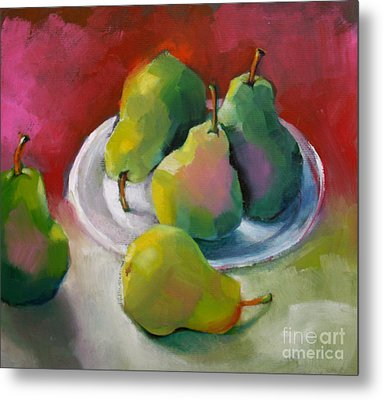 Pears Metal Print by Michelle Abrams