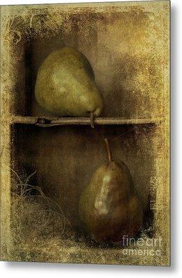 Pears Metal Print by Priska Wettstein