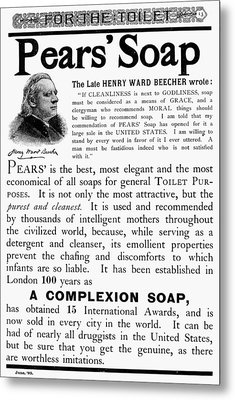 Pears' Soap Ad, 1889 Metal Print by Granger
