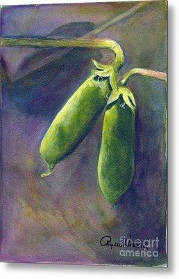 Peas On The Vine Metal Print