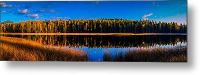 Metal Print featuring the photograph Peavine Pond Panorama by Rob Tullis