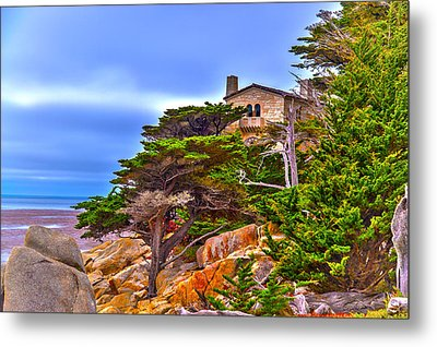 Pebble Beach Ca Metal Print