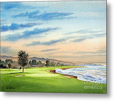 Pebble Beach Golf Course 18th Hole Metal Print