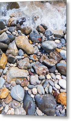 Pebble Stones Metal Print by Atiketta Sangasaeng