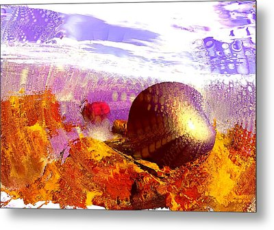 Pebbles On A Beach Metal Print