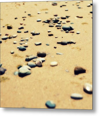 Pebbles On The Beach Metal Print by Michelle Calkins
