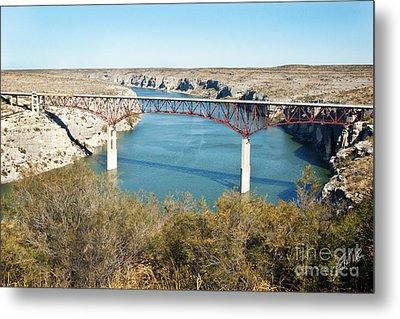 Metal Print featuring the photograph Pecos Bridge by Erika Weber