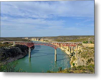 Pecos River High Bridge Metal Print