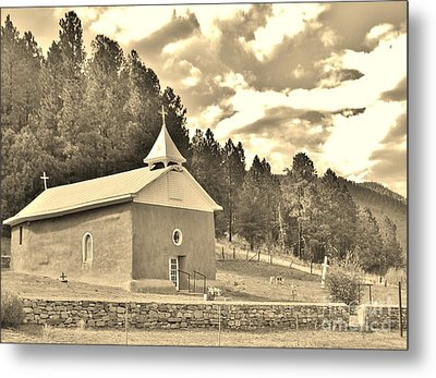 Metal Print featuring the photograph Pecos Roadside by William Wyckoff
