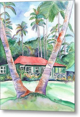Peeking Between The Palm Trees 2 Metal Print