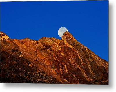 Peeking Full Moon Metal Print by Rebecca Adams