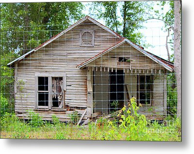 Peeking In At The Past Metal Print by Kathy  White