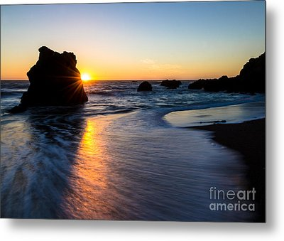 Peeking Sun Metal Print by CML Brown