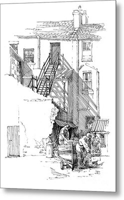 Metal Print featuring the drawing Peel Back Street by Paul Davenport
