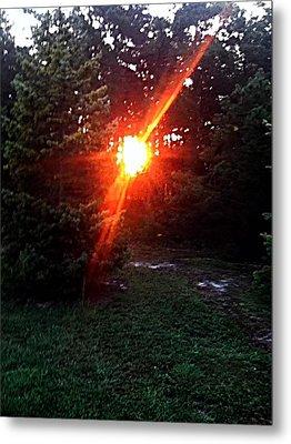 Peeping Sun Metal Print