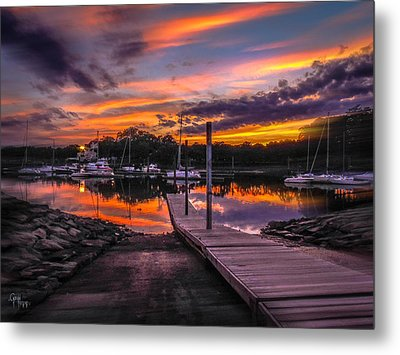 Metal Print featuring the photograph Peering At The Sunset by Glenn Feron