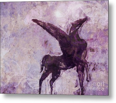 Pegasus Antique Metal Print by Lutz Baar