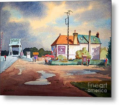 Pegasus Bridge And Cafe Gondree Metal Print by Bill Holkham