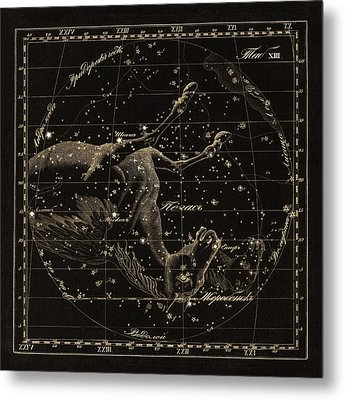 Pegasus Constellations, 1829 Metal Print by Science Photo Library