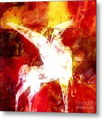 Pegasus Glow Metal Print