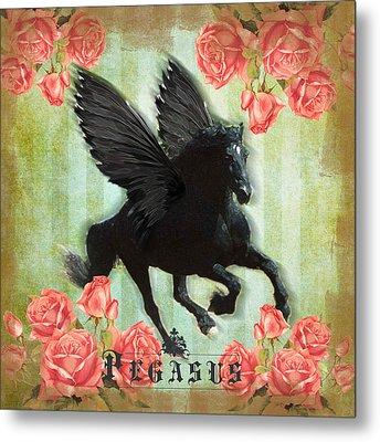 Pegasus Metal Print by Graphicsite Luzern