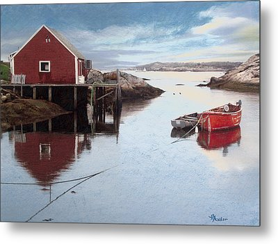 Peggys Cove Metal Print by Brent Ander