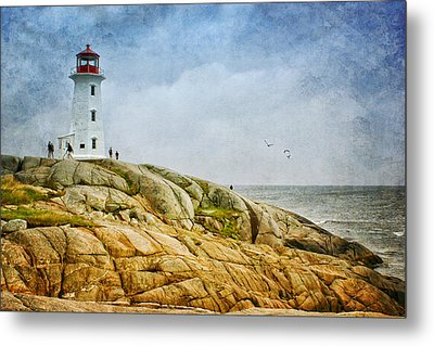 Peggy's Cove Lighthouse - 2 Metal Print by Nikolyn McDonald