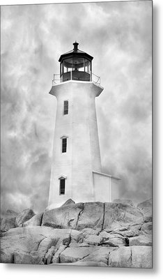 Peggy's Cove Lighthouse Metal Print by Betsy Knapp